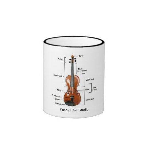 Campanero del negro de la taza del violín