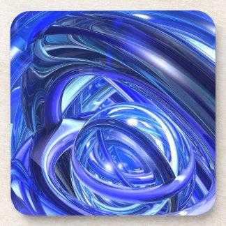 Campaneros azules posavasos de bebidas