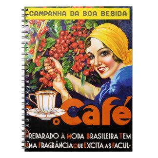 Campanha Da Boa Bebida Coffee Vintage Ad Poster Notebook