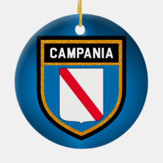 Campania Flag Ceramic Ornament