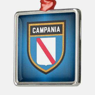 Campania Flag Metal Ornament