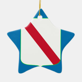 Campania (Italy) Flag Ceramic Ornament