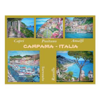 Campania, Italy - Postcard