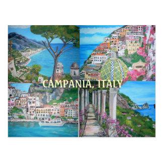 Campania, postal de Italia