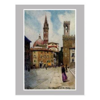 Campanil de Florencia de la acuarela del vintage Tarjetas Postales