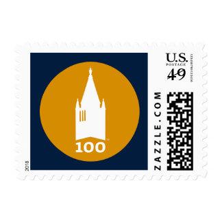 Campanil en azul sellos postales