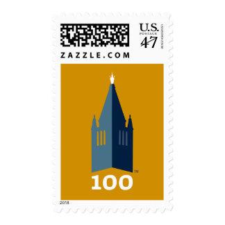 Campanil en el oro sellos postales