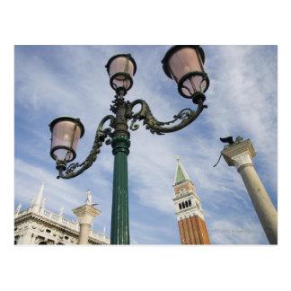 Campanil en la plaza San Marco Venecia Italia Tarjeta Postal