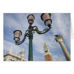 Campanile in the Piazza San Marco Venice Italy Greeting Card