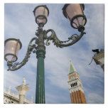 Campanile in the Piazza San Marco Venice Italy Large Square Tile