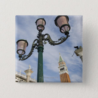 Campanile in the Piazza San Marco Venice Italy Pinback Button