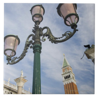Campanile in the Piazza San Marco Venice Italy Tiles