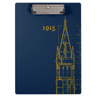 Campanile Interior Blueprint Clipboard