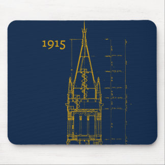 Campanile Interior Blueprint Mouse Pad