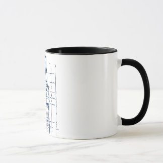 Campanile Interior Blueprint Mug