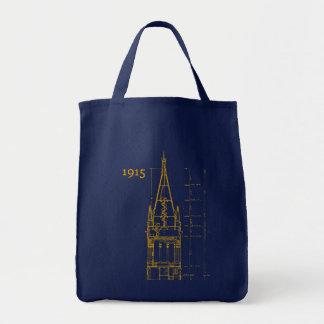Campanile Interior Blueprint Tote Bag