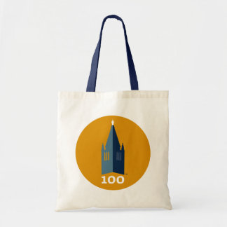 Campanile on Gold Budget Tote Bag