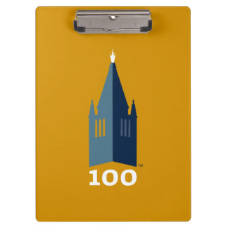 Campanile on Gold Clipboard