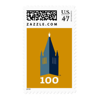 Campanile on Gold Postage Stamp
