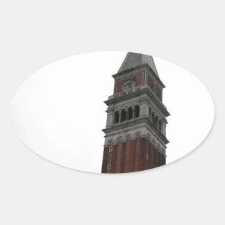Campanile Piazza San Marco Oval Sticker