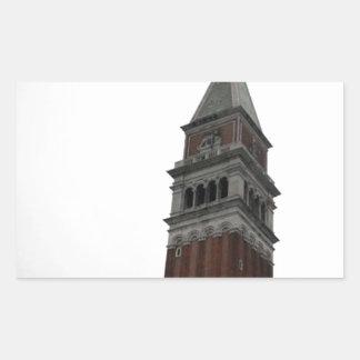 Campanile Piazza San Marco Rectangular Sticker