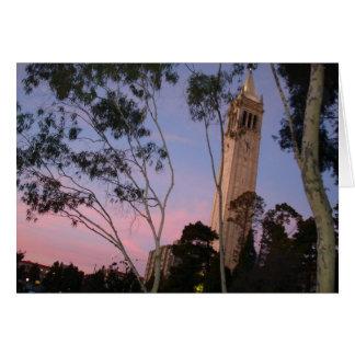 Campanile Sunset, Illuminated at Dusk Card