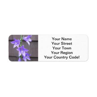 Campanula Garden Plant Flower Blue Custom Return Address Labels
