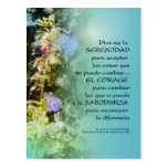 Campanulas del rezo de la serenidad españoles postales