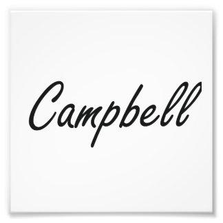 Campbell artistic Name Design Photo Print