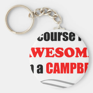 Campbell Awesome Family Keychain