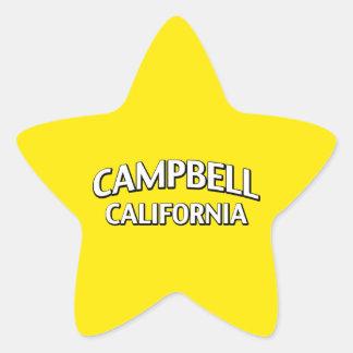 Campbell California Star Sticker