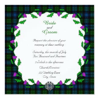 Campbell Celtic Wedding Card