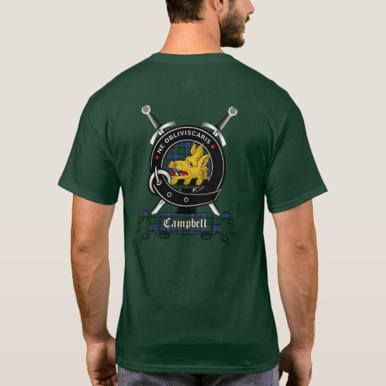 Campbell Clan Badge Adult T-Shirt