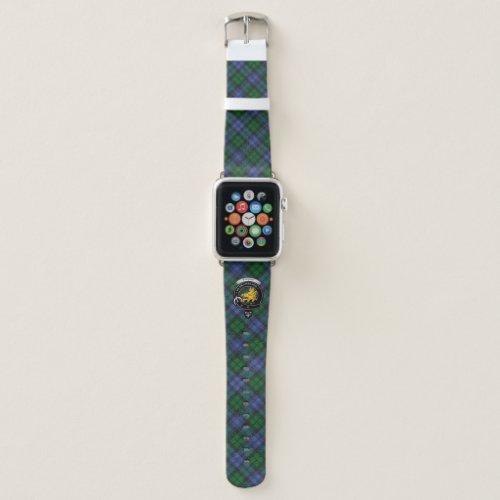 Campbell Clan Badge & Tartan Apple Watch Band