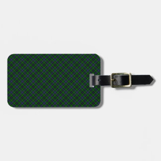 Campbell Clan Tartan Designed Print Luggage Tags