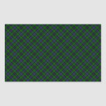 Campbell Clan Tartan Designed Print Rectangular Sticker