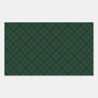 Campbell Clan Tartan Designed Print Rectangular Sticker