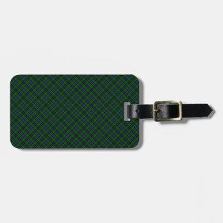 Campbell Clan Tartan Designed Print Travel Bag Tag