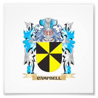 Campbell Coat of Arms - Family Crest Photo Print