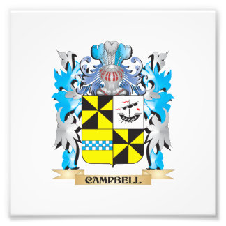 Campbell- Coat of Arms - Family Crest Photo Print