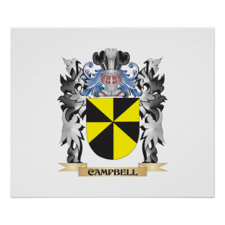 Campbell Coat of Arms - Family Crest Poster
