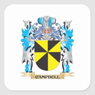 Campbell Coat of Arms - Family Crest Stickers