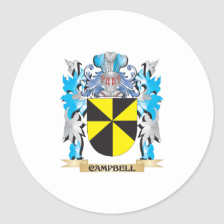 Campbell Coat of Arms - Family Crest Round Stickers