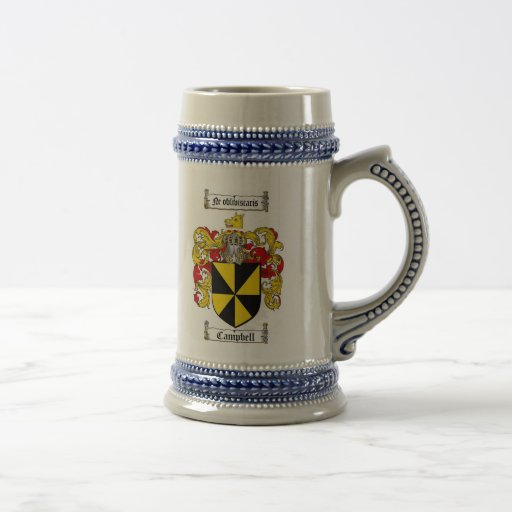 Campbell Coat of Arms Stein / Campbell Family Coffee Mug
