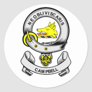 CAMPBELL Coat of Arms Round Sticker