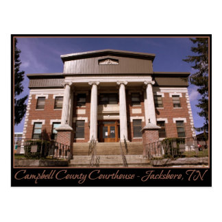 Campbell County Courthouse - Jacksboro, TN Postcard