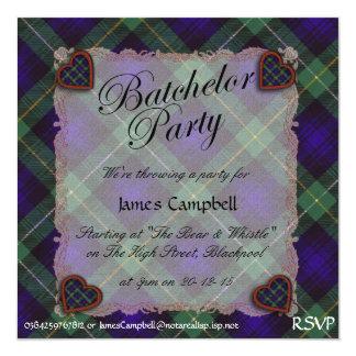 """Campbell de la tela escocesa de Cawdor - el fiesta Invitación 5.25"""" X 5.25"""""""