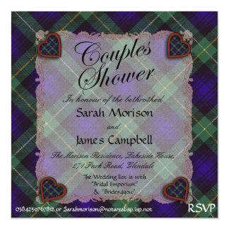 """Campbell de la tela escocesa de tartán de Cawdor - Invitación 5.25"""" X 5.25"""""""