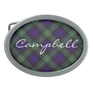 Campbell del tartán del escocés de Argyll Hebillas Cinturón Ovales