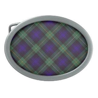 Campbell del tartán del escocés de Argyll Hebillas Cinturon Ovales